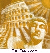 Fine Art graphic  of a roman coliseum