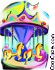 Fine Art graphic  of a merry go round