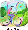 boy riding his bicycle Fine Art graphic