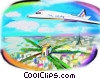 commercial jet Fine Art illustration
