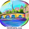 Parisian City scene Stock Art picture