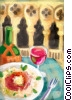 Stock Art graphic  of a restaurant setting