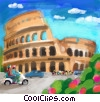 Stock Art picture  of a Italian coliseum