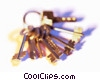 Stock photo  of a key chain with keys