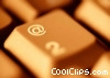 Stock photo  of a laptop keyboard - close up @