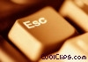 laptop keyboard -close-up escape key Stock photo