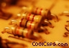 row of resistors Stock photo