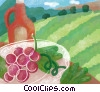 wine and grapes Stock Art image
