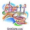 Stock Art graphic  of a gondolas