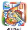 seafood dinner Fine Art illustration
