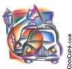 British taxi cabs Fine Art graphic
