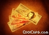 fanned Mexican peso Stock photo