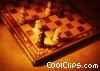 generic chess set, on side in check mate Stock photo