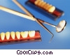 dentist tools overlapping and teeth mode Stock photo