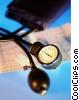 Stock photo  of a blood pressure cuff