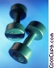 Stock photo  of a dumbbells