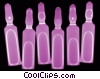 Stock photo  of a row of ampoules