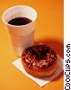 donut and cup of coffee Stock photo