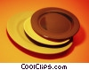 Stock photo  of a stack of plates