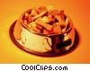 bowl of dog biscuits Stock photo