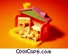 Stock photo  of a dollhouse