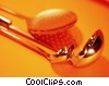 ladles and skimmer Stock photo