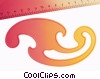 French curve and ruler Stock photo