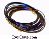 coil of copper wire Stock photo