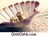 Stock photo  of a dice and shell