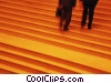 business people going up stairs Stock photo