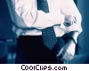 businessman rolling up his sleeves Stock photo