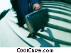 businesswoman walking down stairs Stock photo