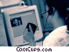 Stock photo  of a woman at her computer