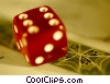 Stock photo  of a dice and money