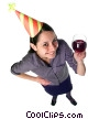 Stock photo  of a woman celebrating