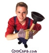 Stock photo  of a plumber