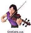 Stock photo  of a violinist