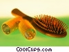 Stock photo  of a brush and curlers