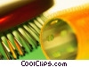 brush and curlers Stock photo