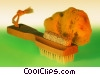 bath scrub brush Stock photo