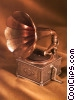 Phonograph Gramophone Record Player Stock photo