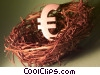 Stock photo  of a nest egg