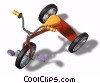 child's tricycle Stock photo