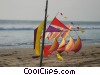 Stock photo  of a kite on the beach