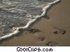 Stock photo  of a Foot prints an the beach