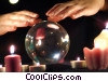 fortune teller and a crystal ball Stock photo