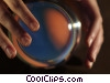 Stock photo  of a hands and a crystal ball