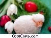 Stock photo  of a tulips and a lamb