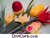 Easter egg and flowers Stock photo