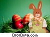 Stock photo  of a Easter bunny and eggs